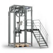 Stations de remplissage pour big bags - Bernhardt SA - Dimension du big bag : 900 x 900 x 2 200 mm