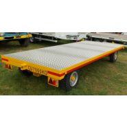 Remorque plateau pour poids lourd - fournier - 2 essieux