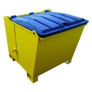 Benne basculante avec couvercle (bb) - 600 litres