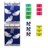 Etiquettes médicales et pharmaceutiques - Luquet & Duration - multi-résistante