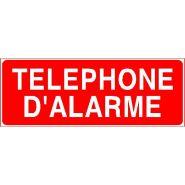 Panneau de signalisation - telephone d'alarme