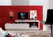 MEUBLE TV DESIGN BLANC BRILLANT TREVI