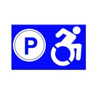 P-10027 - Panneau place handicapé - Vos panneaux ideosign - Format 30 × 40 cm
