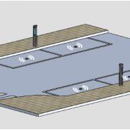 SYSTÈME AVEC CAPTEURS - Bornes arrêt-minute - Urbaflux - Equipée de 2 capteurs sans fil à enfouir dans le sol par place