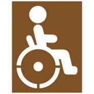 21622 - Pochoir handicapé - Virages - 1000 x 1350 mm