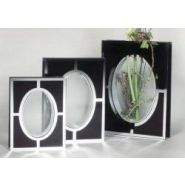 VASE MIRROIR SANDRA : BLACK BEAUTY
