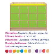 MEUBLES DE CHANGE SIMPLE ET CASIERS AVEC 18 PORTES