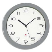 Alba horloge murale hornew silencieuse métal gris, pile aa non fournie - diamètre 30 cm