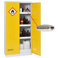 Armoire de sécurité avec extincteur automatique - armoire 2 portes - 300 l