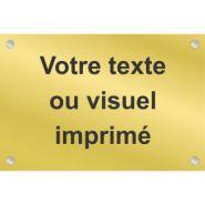EOG0210 - Plaque de porte d'entrée personnalisable - Toutelasignaletique - Matière : Aluminium-or