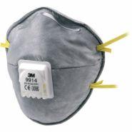 3m 9914 ffp1 nr d - masque respiratoire - cerva - avec valve d'expiration contre poussière et aérosols jusqu'à 4x npk p, contre gaz et vapeurs avec odeur désagréable sous npk p