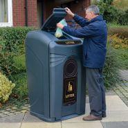 Nexus - poubelle publique - glasdon - 240 litres