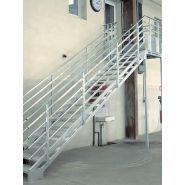 escaliers droits à géométrie variable - BOMBRUN - en acier galvanisé