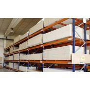 Rayonnage et rack à palette - Continental Rack France - Profondeur standard: 1100 mm