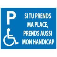 HAN4040 - Panneau place handicapé - Jr signaletic - Adhésif 400x300 mm