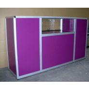 VC 1308009 - Comptoir pour magasin - Vitrinemag - Alumium Naturel Poli