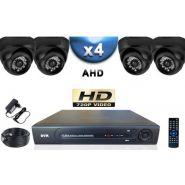 KIT PROFESSIONNEL 4 CAMÉRAS DÔMES IR 20M SONY HD 960P   ENREGISTREUR DVR AHD 100