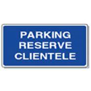 Panneau de signalisation - parking reserve clientele