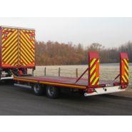 PB12G1 - Remorque plateau pour poids lourd - Fournier - 2 essieux centraux