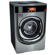 Laveuses à cuve suspendue : gamme IY - Ipso - Version monnayeur - Dessus et façade en acier inoxydable et panneaux latéraux en peinture noire