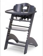 Chaise haute évolutive pour bébé coloris anthracite