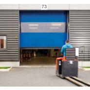 Porte rapide 10008 / souple / à enroulement / en plastique / utilisation extérieure / 6250 x 10000 mm
