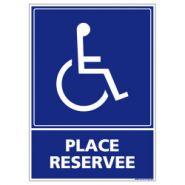 L0953 - Panneau place handicapé - Signalétique biz - Dimension 150*210 mm