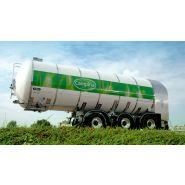 Remorque citerne - vanhool - transport du lait rmo
