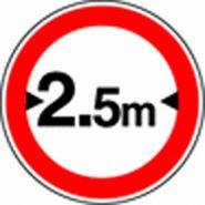 Panneau de signalisation - largeur de vÉhicule limitÉe
