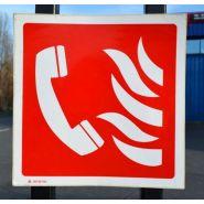 0156 - Panneau d'incendie - Stocksignes - Dimension 100 * 100 mm