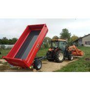GV 40 BR Benne agricole à ridelles démontables - Devès - Charge 4 T