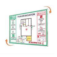 Plaque signalétique cristalsign – slim® 210 x 297 mm extraplate - réf.220304