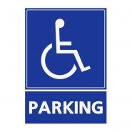 REFZ405 - Panneau stationnement handicapé - ABC signalétique - Dimensions : 5 cm à 40 cm