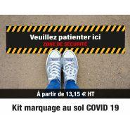 Kit Marquage au sol - Signalétique Covid - BREARD COMMUNICATION SA - Antidérapant