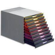 Durable module de classement varicolor 10 tiroirs, abs multicouleurs. l29,2 x h28 x p35,6 cm