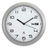 Alba horloge murale ronde gris anthracite diamètre 30 cm avec dateur