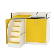 COMPACT D'ANGLE AVEC VASQUE