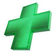 FULL HD LED 1000 SF - Enseigne pharmacie - SARL IDENTY SIGN - Dimensions : 1000 x 1000 mm