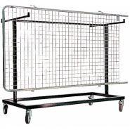 Gre.ch12 - chariot pour grille d'exposition - equipcite - pour 12 grilles expo