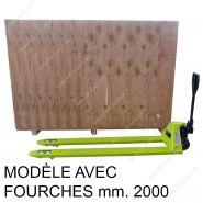 Transpalette manuel avec fourche - ferplast - 2000 à 3000 kg