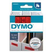 DYMO RUBAN D1 NOIR/ROUGE 12MMX7M POUR 1000/1000+/2000/3500/4500/5000/5518