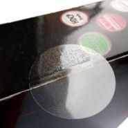 Pastilles, étiquettes de fermeture transparente