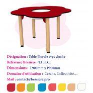 TABLE FLORAL AVEC CLOCHE