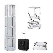 Présentoir pliant cylindrique stand 4 étagère hauteur 206 cm