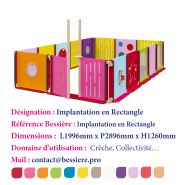 Implantation en rectangle