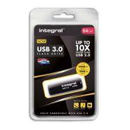 INTEGRAL CLÉ USB 3.0 NOIRE 64GO INFD64GBNOIR3,0