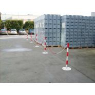 Ppkm6 - barrière à chaîne poteaux métalique - signals - l 15 m
