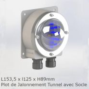 Balise tunnel vision t embase - plot routier - eccelectro - 153,5 mm