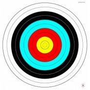 Cible de tir à l'arc - objectif cibles - 64x61cm