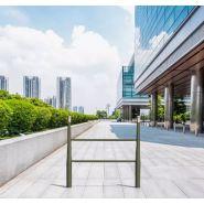 Barrière alm'a - Concept urbain - 2 potelets alm'a avec 2 barreaux acier de section